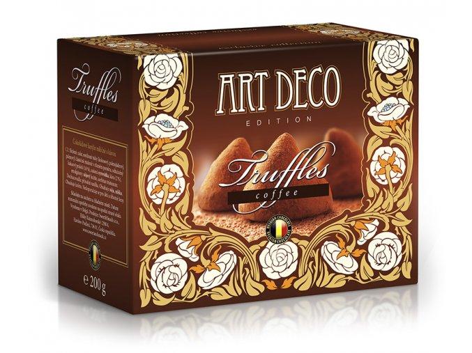 ART DECO belgické kakaové lanýže s kávou 200g