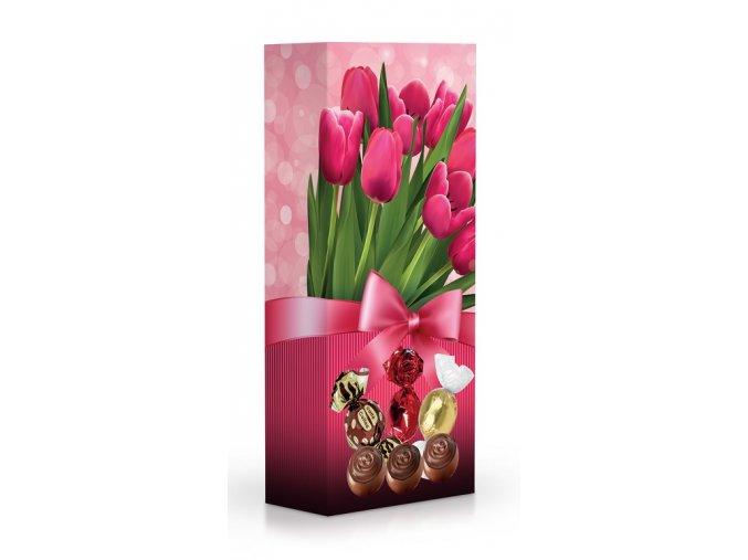 Čokoládové plněné pralinky - tulipány 84 g