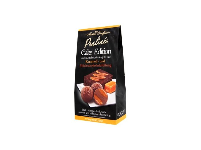 Maitre Truffout - čokoládové koule s karamelovou a mléčnou náplní 148g