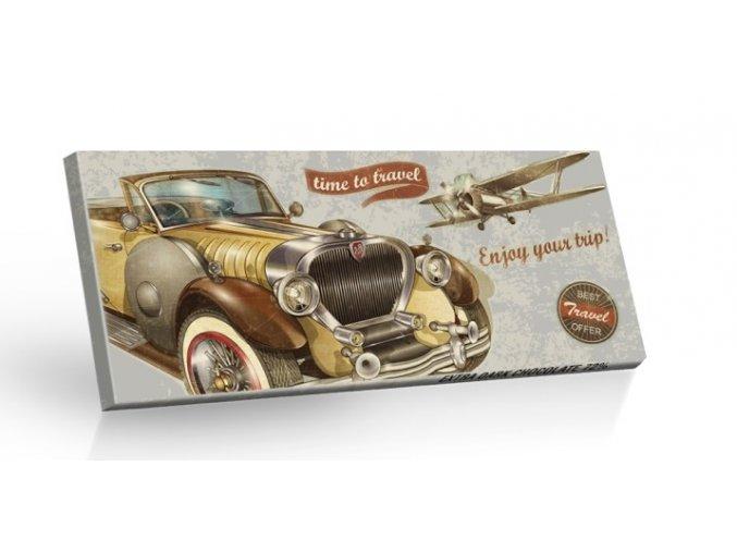 Retro Choco Cars Time to travel - Extra hořká čokoláda 72% 100g