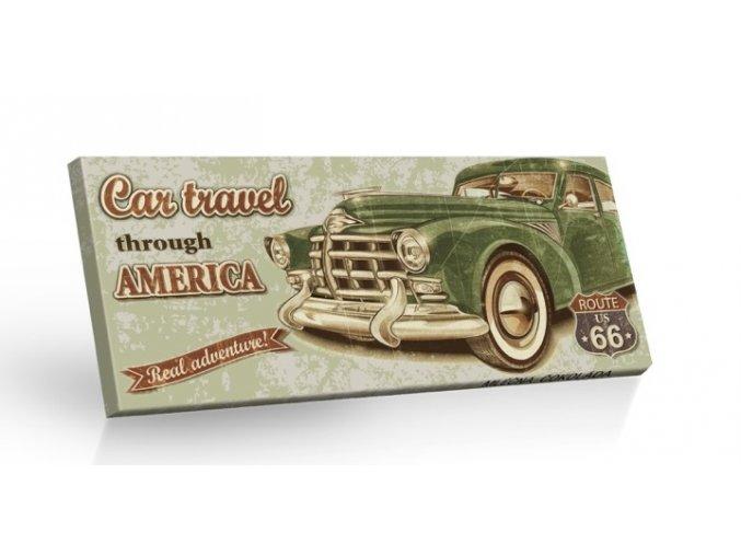 Retro Choco Cars Amerika - mléčná čokoláda 100g