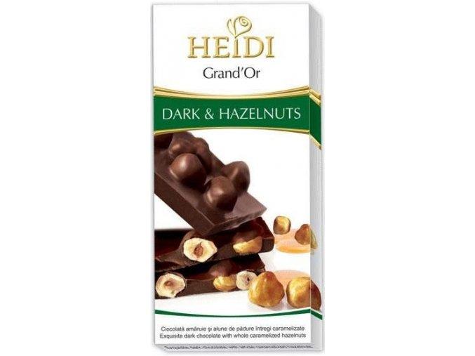 HEIDI - hořká čokoláda s celými karamelizovanými lískovými oříšky 100g