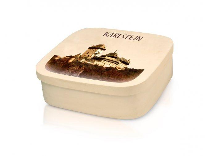 Karlštejn - belgické pralinky v dřevěné dóze 400 g