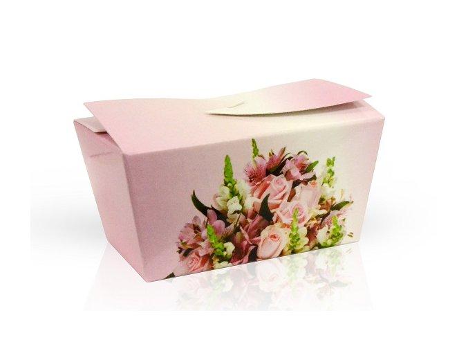 Výběr čokoládových pralinek 32 g - růžová