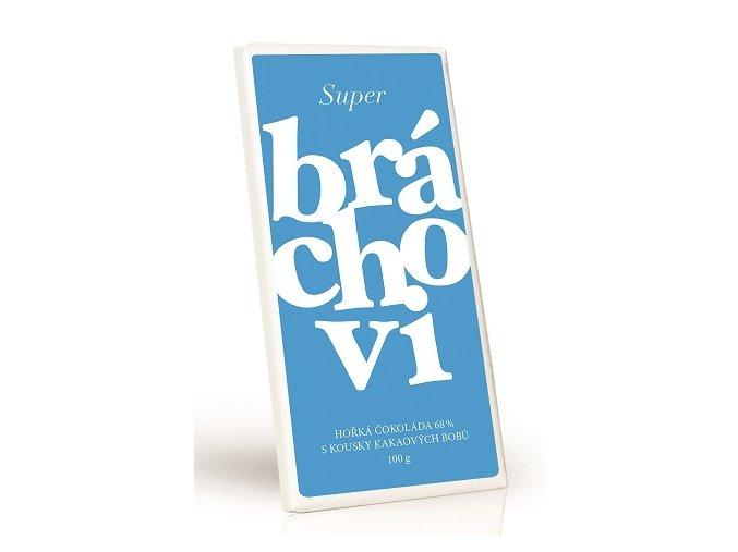 Super bráchovi - Hořká čokoláda 68% s kakaovými boby 100g