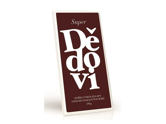 Super dědovi - Hořká čokoláda 68% s kakaovými boby 100g