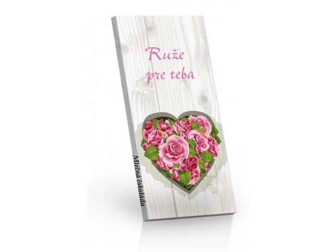 Čokoláda mléčná Ruže pre Teba 100g SLOVENSKY