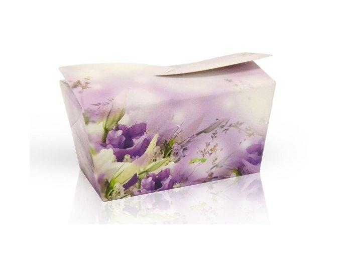Výběr čokoládových pralinek 32 g - fialové květy