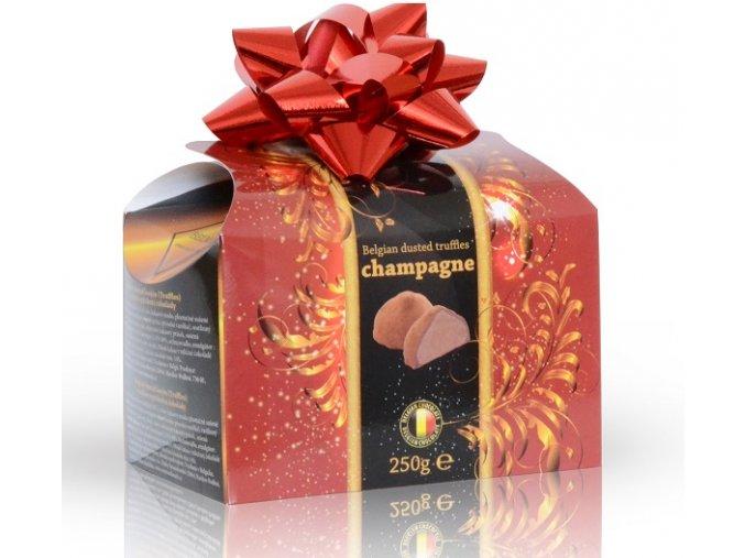 Belgické lanýže s náplní s příchutí champagne s mašlí 250 g
