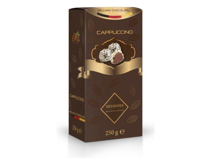 Belmaria lanýže mléčné Cappuccino s hoblinkami z bílé čokolády 250g