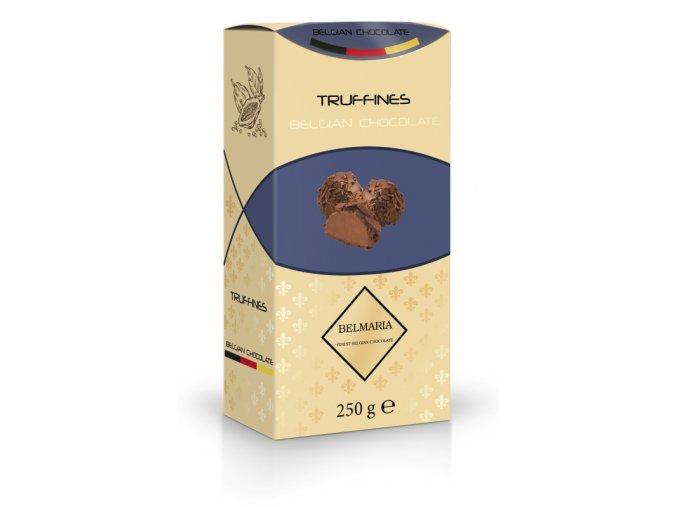 Belmaria lanýže mléčné Classic s hoblinkami z mléčné čokolády  (zlatý obal) 250g
