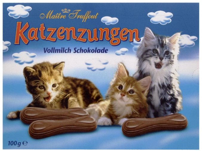 Maitre Truffout - Kočičí jazýčky mléčná čokoláda 100g