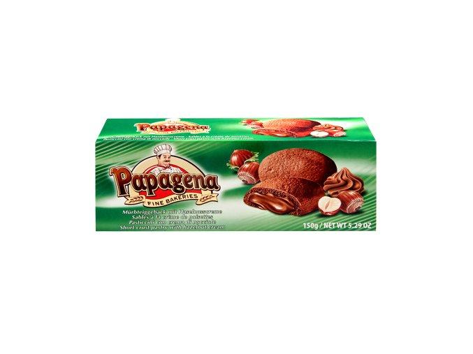 Papagena - Pečivo z křehkého těsta s lískooříškovou náplní 150g