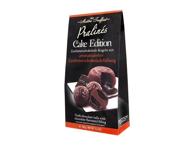 Maitre Truffout - Čokoládové koule z hořké čokolády s čokoládovou náplní 148g