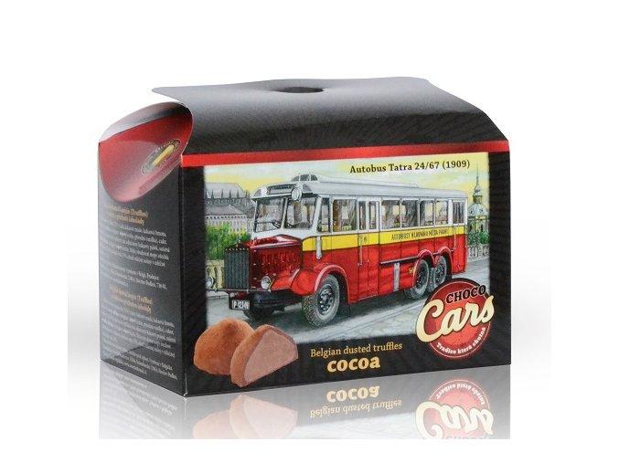 Belgické lanýže s čokoládovou náplní Choco Cars 250 g