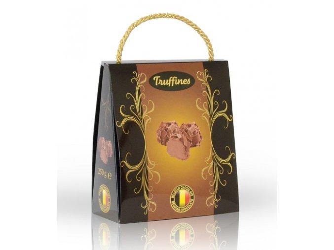 Lanýže mléčné s hoblinkami z mléčné čokolády v dárkové tašce 250g