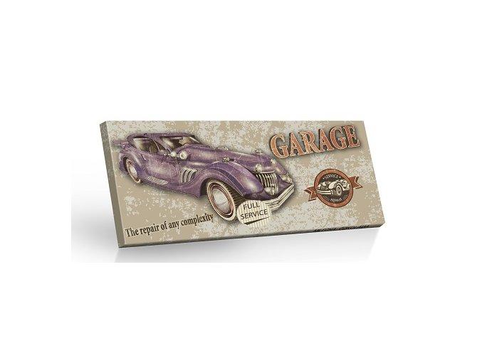 Retro Choco Cars Garage - mléčná čokoláda 100g