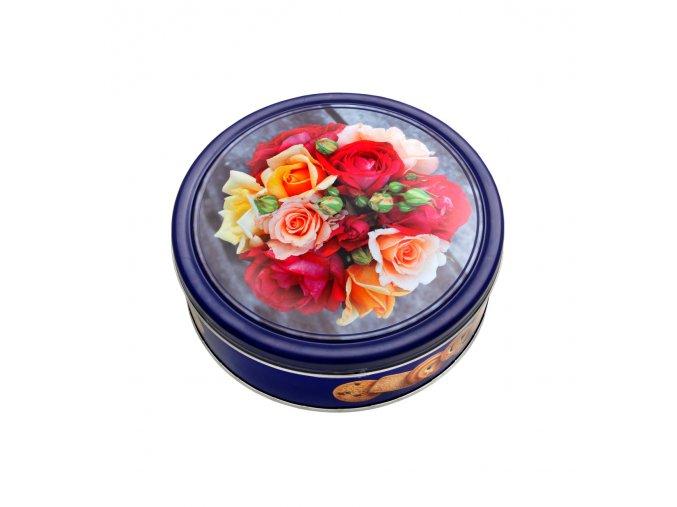 Máslové sušenky 454 g plech motiv Růže