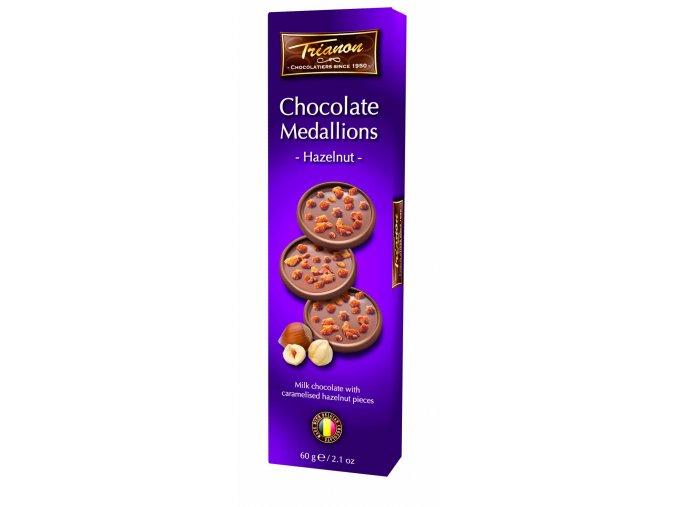 Trianon čokoládové medailonky Lískový oříšek 60 g