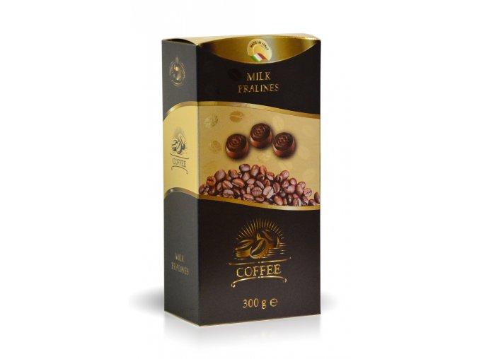 Pralinky z mléčné čokolády s kávovou náplní 250 g