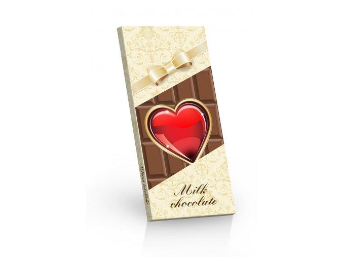 cokolada Srdce na cokolade ML 3D leva