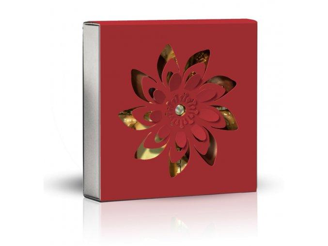 Belgické pralinky Květ červený obal 50g