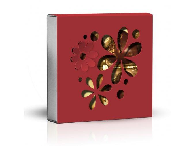 Belgické pralinky Skupina květů červený obal 50g
