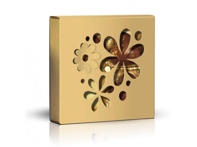 Belgické pralinky Skupina květů zlatý obal 50g