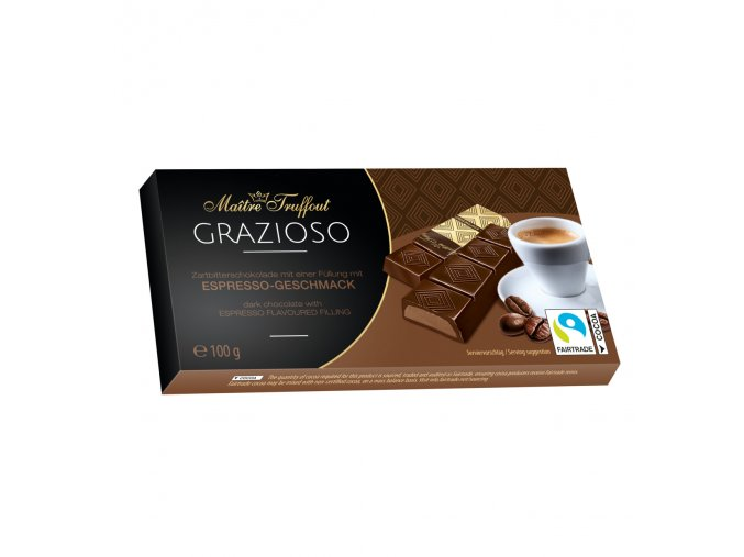 Grazioso dark chocolate with espresso flavoured filling 100g 8x125g Image 1 Zoom image