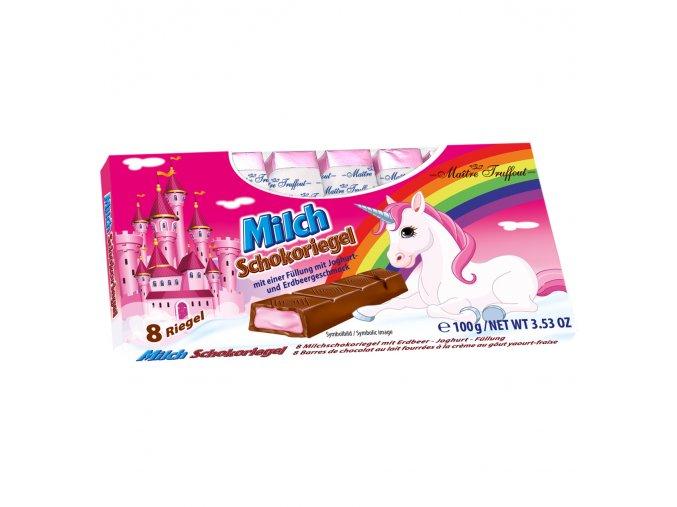 Einhorn Milchschokolade mit Erdbeer Joghurtcremefuellung 8x125g Bild 1 Zoombild