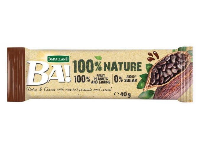 BA 100% nature tyčinka kakao 40g