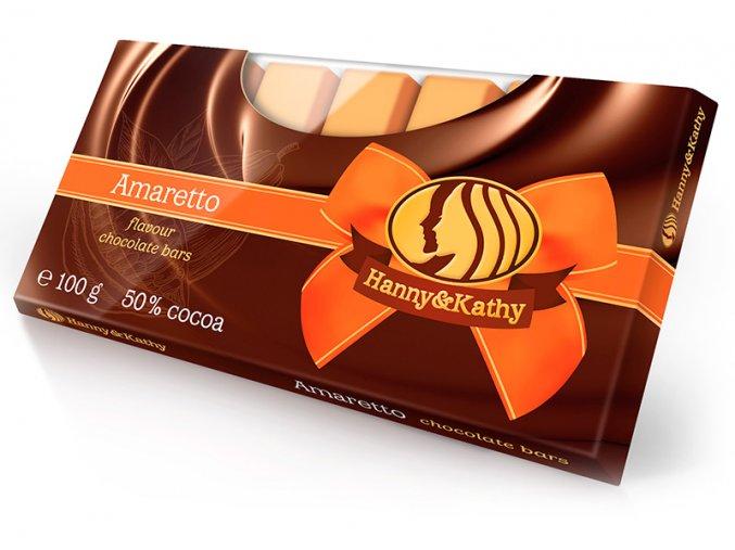 Hanny&Kathy čokoládové tyčinky amaretto 100g