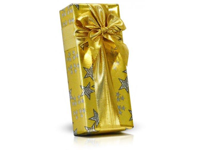 Italské čokoládové pralinky v dárkovém balení s mašlí 84g zlatá