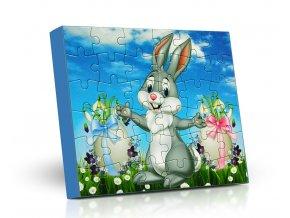 Lodicky puzzle Velikonoce zajíc 125g M
