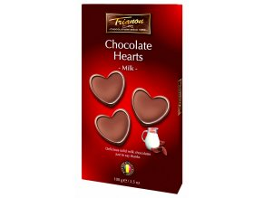 Trianon čokoládová srdíčka z mléčné čokolády 100 g