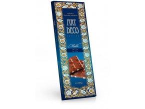 ART DECO mléčná čokoláda s příchutí caffe latte, sušenkami a kávou 225g