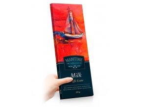 Maritime mléčná čokoláda s příchutí caffe latte, sušenkami a kávou 225g