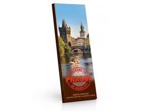 Praha mléčná čokoláda s příchutí caffe latte, sušenkami a kávou 225g