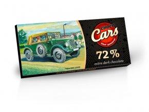 Choco Cars - Extra hořká čokoláda 72% 100g