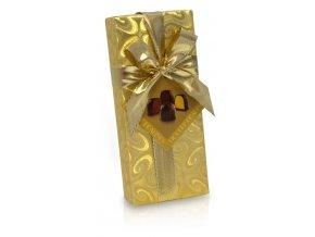 Pralinky ve zlatém papíru s mašlí mix 5 ks 75g