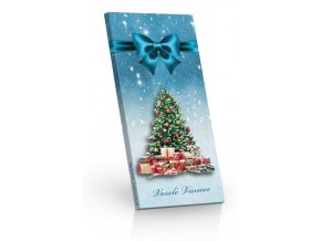 Čokoláda mléčná Vánoční stromeček modrá 100g