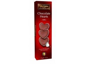 Trianon čokoládová srdíčka z mléčné čokolády 75 g