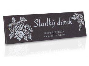 Hořká čokoláda s kousky brusinek a višní  - Sladký dárek 225g hnědá