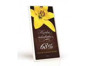 KVĚT ŽLUTÁ LILIE - Čokoláda 68% s kakaovými kousky 100g