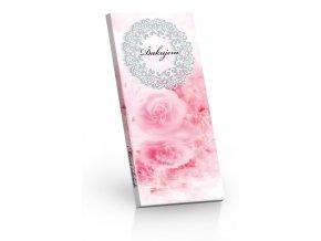 Čokoláda mléčná Ďakujem růžová 100g SLOVENSKY
