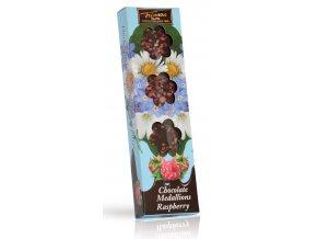 Trianon čokoládové medailonky Malina Květy