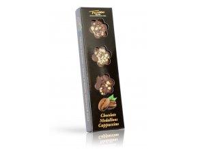 Trianon čokoládové medailonky Cappuccino 60 g (černý obal)