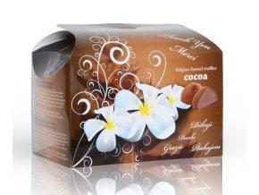 Belgické lanýže s čokoládovou náplní Děkuji bílá květina 250 g