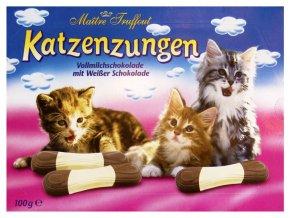 Maitre Truffout - Kočičí jazýčky mléčná a bílá čokoláda 100g