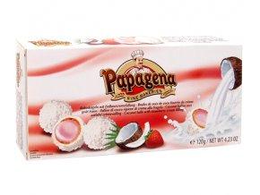Papagena - Waflové kuličky s jahodovo-krémovou náplní a kokosovými vločkami 120g